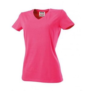 T-Shirt v-hals dames Slim-Fit