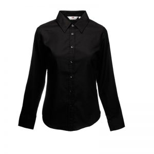 Lady fit oxford blouse lange mouwen
