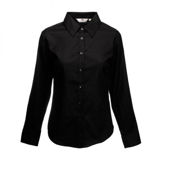 Lady fit oxford blouse lange mouwen